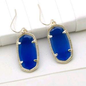 Kendra Scott Dani Earrings in Cobalt Blue/Silver